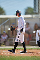Fritz Genther during the WWBA World Championship at the Roger Dean Complex on October 20, 2018 in Jupiter, Florida.  Fritz Genther is a shortstop from Kingston, New York who attends Kingston High School and is committed to Virginia Tech.  (Mike Janes/Four Seam Images)
