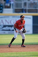 Erie SeaWolves second baseman Willi Castro (11) during a game against the Harrisburg Senators on August 29, 2018 at FNB Field in Harrisburg, Pennsylvania.  Harrisburg defeated Erie 5-4.  (Mike Janes/Four Seam Images)
