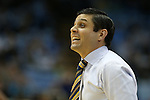 28 December 2015: UNCG head coach Wes Miller. The University of North Carolina Tar Heels hosted the UNC Greensboro Spartans at the Dean E. Smith Center in Chapel Hill, North Carolina in a 2015-16 NCAA Division I Men's Basketball game. UNC won the game 96-63.