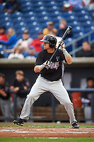 Wisconsin Timber Rattlers outfielder Mitch Meyer (19) squares to bunt during the first game of a doubleheader against the Quad Cities River Bandits on August 19, 2015 at Modern Woodmen Park in Davenport, Iowa.  Quad Cities defeated Wisconsin 3-2.  (Mike Janes/Four Seam Images)