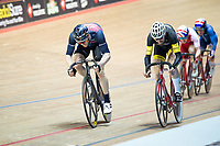 Picture by Allan McKenzie/SWpix.com - 06/01/2018 - Track Cycling - Revolution Champion Series 2017 - Round 3 - National Cycling Centre, Manchester, England - JLT Condor's Ed Clancy leads during the Mens Elite Championship Elimination Scratch race.