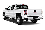 Car pictures of rear three quarter view of 2016 GMC Sierra 1500 Denali 4WD Crew Cab Short Box Denali 4 Door Pick-up Angular Rear