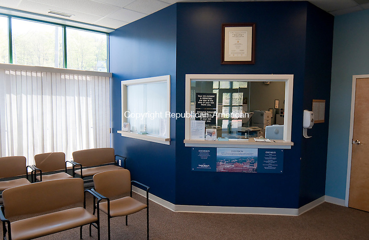 NAUGATUCK, CT--050715JS05- The reception area and waiting room at the Saint Mary's Hospital Urgent Care Center in Naugatuck. <br /> Jim Shannon Republican-American
