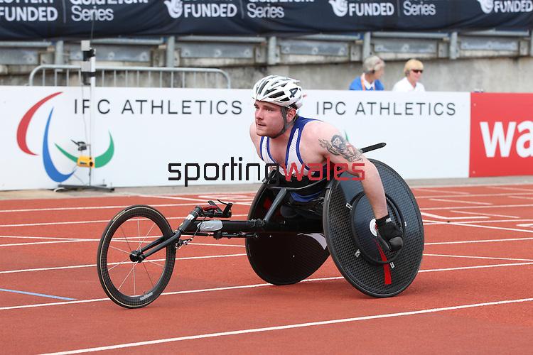 IPC European Athletics Championship 2014<br /> Mickey Bushell GBR<br /> Men's 100m T53<br /> Swansea University<br /> 20.08.14<br /> &copy;Steve Pope-SPORTINGWALES