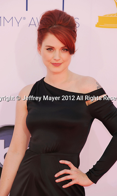 LOS ANGELES, CA - SEPTEMBER 23: Alexandra Breckenridge arrives at the 64th Primetime Emmy Awards at Nokia Theatre L.A. Live on September 23, 2012 in Los Angeles, California.