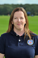 Medical Administrator Helen Shand poses for a portrait at a squad photocall. Bath Rugby photocall on October 17, 2013 at Farleigh House in Bath, England. Photo by: Patrick Khachfe/Onside Images
