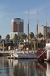 Long Beach, California, Rainbow Harbor, historic ships, Southern California, United States,