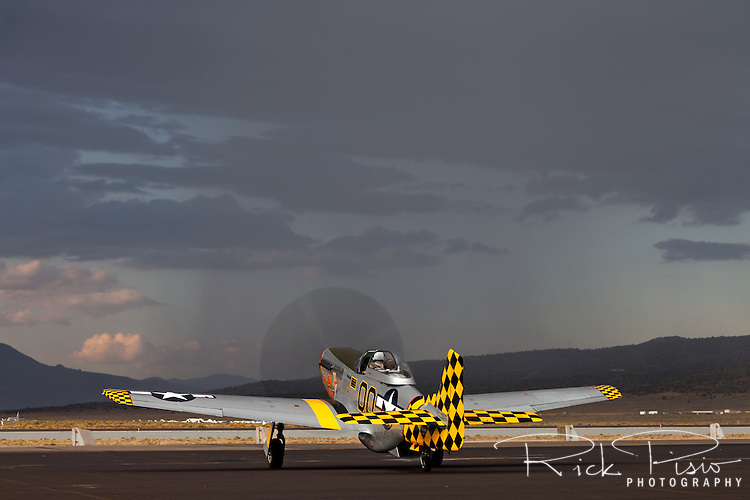 "P-51 Mustang ""Boo Man Choo"" on the ramp at Stead Field in Nevada"
