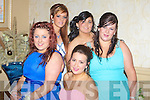 FASHION: Great fashion at the Listowel debs in The Abbey gate Hotel, Tralee on Satuday inght, L-r: Grace Moriarty, Jacinta McCarthy, Emma Enright,Leanne Costello and Nicole Whyte (Listowel). ............................. ..........