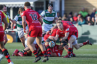 Will HOMER of Jersey Reds Match action during the Greene King IPA Championship match between Ealing Trailfinders and Jersey Reds at Castle Bar , West Ealing , England  on 22 December 2018. Photo by David Horn.