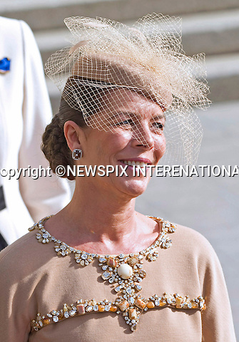 "ROYAL HAT PARADE - PRINCESS CAROLINE OF HANOVER.The Religious Wedding of HRH the Hereditary Grand Duke and Countess Stéphanie de Lannoy at the Cathedral of Our lady of Luxembourg, provided an opportune moment for the Royal Ladies to put on a hat show and they did not disappoint with their various styles, Luxembourg_20-10-2012.Mandatory credit photo: ©Dias/NEWSPIX INTERNATIONAL..(Failure to credit will incur a surcharge of 100% of reproduction fees)..                **ALL FEES PAYABLE TO: ""NEWSPIX INTERNATIONAL""**..IMMEDIATE CONFIRMATION OF USAGE REQUIRED:.Newspix International, 31 Chinnery Hill, Bishop's Stortford, ENGLAND CM23 3PS.Tel:+441279 324672  ; Fax: +441279656877.Mobile:  07775681153.e-mail: info@newspixinternational.co.uk"