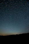 Night sky with stars over the Bodie Hills of California. (Ursa Major)