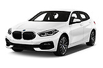 2020 BMW 1-Series Sport 5 Door Hatchback Angular Front automotive stock photos of front three quarter view