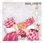 Addy, CHRISTMAS CHILDREN, 3 kinks paintings+++++,GBAD122979,#XK#