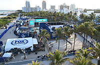 MIAMI BEACH, FL - JANUARY 28: FOX SUPER BOWL LIV ACTIVATION AT LUMMUS PARK AND FOX SPORTS SOUTH BEACH STUDIO: FOX's weeklong interactive fan experience on the beach in Miami at Lummus Park on January 28, 2020 in Miami Beach, Florida. (Photo by Frank Micelotta/FoX/PictureGroup)