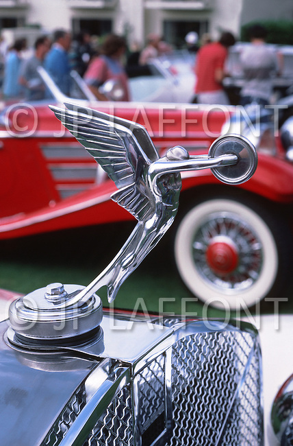 August 26th, 1984. Detail of a Packard radiator.
