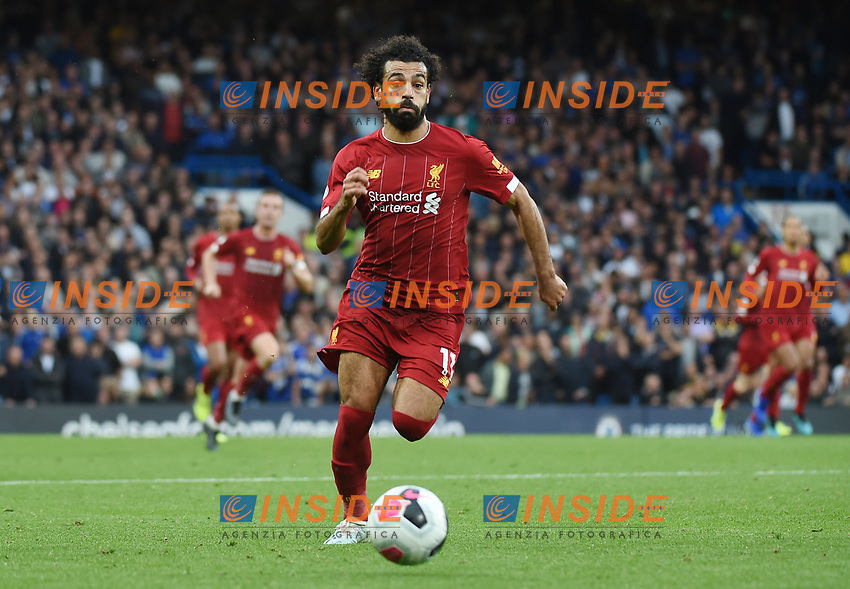 Mohamed Salah of Liverpool during the Premier League match between Chelsea and Liverpool at Stamford Bridge on September 22nd 2019 in London, England. (Photo by Zed Jameson/phcimages.com)<br /> Foto PHC/Insidefoto <br /> ITALY ONLY