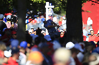 Henrik Stenson (Team Europe) on the 13th tee during Sunday Singles matches at the Ryder Cup, Hazeltine National Golf Club, Chaska, Minnesota, USA. 02/10/2016<br /> Picture: Golffile   Fran Caffrey<br /> <br /> <br /> All photo usage must carry mandatory copyright credit (&copy; Golffile   Fran Caffrey)