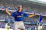 Rangers v Celtic 20.8.2005: Thomas Buffel celebrates the second goal for Rangers.