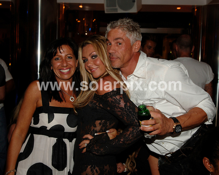 **ALL ROUND EXCLUSIVE PICTURES FROM SOLARPIX.COM**.**WORLDWIDE SYNDICATION RIGHTS**.Bianca Gascoigne, Kate Lawler and Michelle Heaton, enjoy a night out in a nightclub on Spain's Costa del Sol with convicted fraudster Wayne Lineker (brother of Gary) whilst Simon Webbe (formerly of the band 'Blue') sings. 22 August 2007..This pic: Michelle Heaton and Wayne Lineker..JOB REF: 4521 JGS        DATE: 22_08_2007.**MUST CREDIT SOLARPIX.COM OR DOUBLE FEE WILL BE CHARGED* *UNDER NO CIRCUMSTANCES IS THIS IMAGE TO BE REPRODUCED FOR ANY ONLINE EDITION WITHOUT PRIOR PERMISSION*
