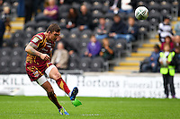 PICTURE BY ALEX WHITEHEAD/SWPIX.COM - Rugby League - Super League - Hull FC v Huddersfield Giants - KC Stadium, Hull, England - 01/07/12 - Huddersfield's Danny Brough kicks for goal.