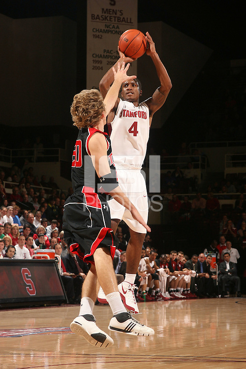 Stanford, CA - DECEMBER 28:  Guard Anthony Goods #4 of the Stanford Cardinal during Stanford's 111-66 win against the Texas Tech Red Raiders on December 28, 2008 at Maples Pavilion in Stanford, California.