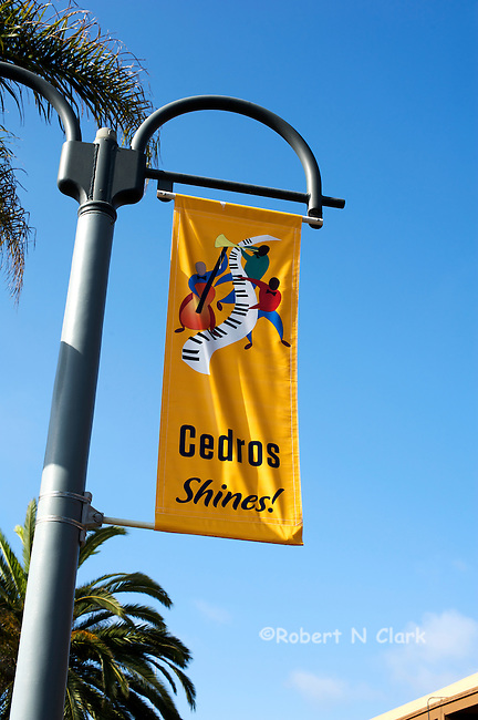 Tree banners in the Cedros Design District, Solana Beach