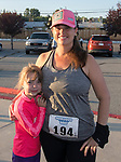 Cheryl and 7-year-old Addison Guinan during the 49th Annual Journal Jog in Reno, Nevada on Sunday, September 10, 2017.