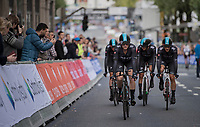 Team SKY rolling in after the finish<br /> <br /> Men's Team Time Trial<br /> <br /> UCI 2017 Road World Championships - Bergen/Norway