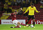 Watford's Troy Deeney tussles with Bristol City's Aden Flint during the Carabao cup match at Vicarage Road Stadium, Watford. Picture date 22nd August 2017. Picture credit should read: David Klein/Sportimage