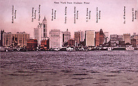 New York History:  Lower Manhattan Skyline, c. 1910.