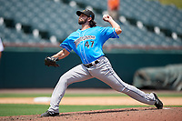 Akron RubberDucks pitcher Matt Whitehouse (47) during an Eastern League game against the Bowie Baysox on May 30, 2019 at Prince George's Stadium in Bowie, Maryland.  Akron defeated Bowie 9-5.  (Mike Janes/Four Seam Images)