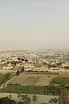 A view of Jericho from the Greek Orthodox Quarqntal Monastery on the Mount of Temptation