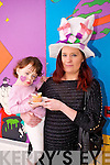 Allanna and Siobhan Fitzgerald enjoying the Mad Hatters Tea party and cake sale in aid of Temple street Hospital at the Shanakill Family Resource Centre on Thursday