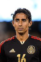 Mexico midfielder Fernando Arce (16). Mexico defeated the Ivory Coast 4-1 during an international friendly at MetLife Stadium in East Rutherford, NJ, on August 14, 2013.