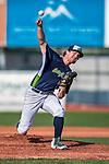 4 September 2017: Vermont Lake Monsters pitcher Wyatt Marks on the mound during the second game against the Tri-City ValleyCats at Centennial Field in Burlington, Vermont. The Lake Monsters split their games, falling 6-5 in the first, then winning the second 7-4, thus clinching the NY Penn League Stedler Division Championship. Mandatory Credit: Ed Wolfstein Photo *** RAW (NEF) Image File Available ***
