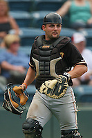 June 15 2007:  Michael McKenry of the Modesto Nuts during game against the Rancho Cucamonga Quakes at The Epicenter in Rancho Cucamonga,CA.  Photo by Larry Goren/Four Seam Image