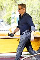 VENICE, ITALY - SEPTEMBER 01: Matt Damon is seen leaving the Hotel Excelsior after giving interviews during the 74th Venice Film Festival on September 1, 2017 in Venice, Italy.  Credit: John Rasimus/MediaPunch ***FRANCE, SWEDEN, NORWAY, DENARK, FINLAND, USA, CZECH REPUBLIC, SOUTH AMERICA ONLY***