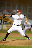 Erie Seawolves pitcher Matt Crouse #18 during a game against the Erie Seawolves on April 23, 2013 at Jerry Uht Park in Erie, Pennsylvania.  Erie defeated Bowie 4-1.  (Mike Janes/Four Seam Images)