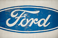 Thursday 02 March 2017<br /> Pictured: Ford Signage outside the Bridgend Factory <br /> Re: Ford expects to cut more than 1,100 jobs from its Bridgend plant by 2021, casting doubt on the future of the Welsh engine facility.