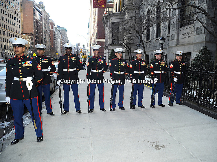 The Marines..atThe Funeral of James Brady on January 31, 2009 at The Church of Saint Ignatiius Loyola in New York City. ....Robin Platzer, Twin Images