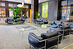 Lobby of Kettering Tower, Dayton Ohio. Interior photo.