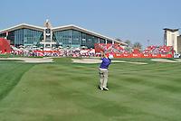 Francesco Molinari (ITA) on the 9th during the final round of the Abu Dhabi HSBC Golf Championship, Abu Dhabi GC,Abu Dhabi,United Arab Emirates.Picture Fran Caffrey www.golffile.ie