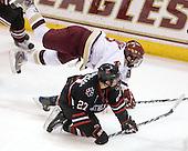 Barry Almeida (BC - 9), Alex Tuckerman (NU - 27) - The Boston College Eagles defeated the Northeastern University Huskies 5-1 on Saturday, November 7, 2009, at Conte Forum in Chestnut Hill, Massachusetts.