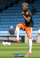 Blackpool's Armand Gnanduillet during the pre-match warm-up <br /> <br /> Photographer David Shipman/CameraSport<br /> <br /> The EFL Sky Bet League One - Scunthorpe United v Blackpool - Friday 19th April 2019 - Glanford Park - Scunthorpe<br /> <br /> World Copyright © 2019 CameraSport. All rights reserved. 43 Linden Ave. Countesthorpe. Leicester. England. LE8 5PG - Tel: +44 (0) 116 277 4147 - admin@camerasport.com - www.camerasport.com