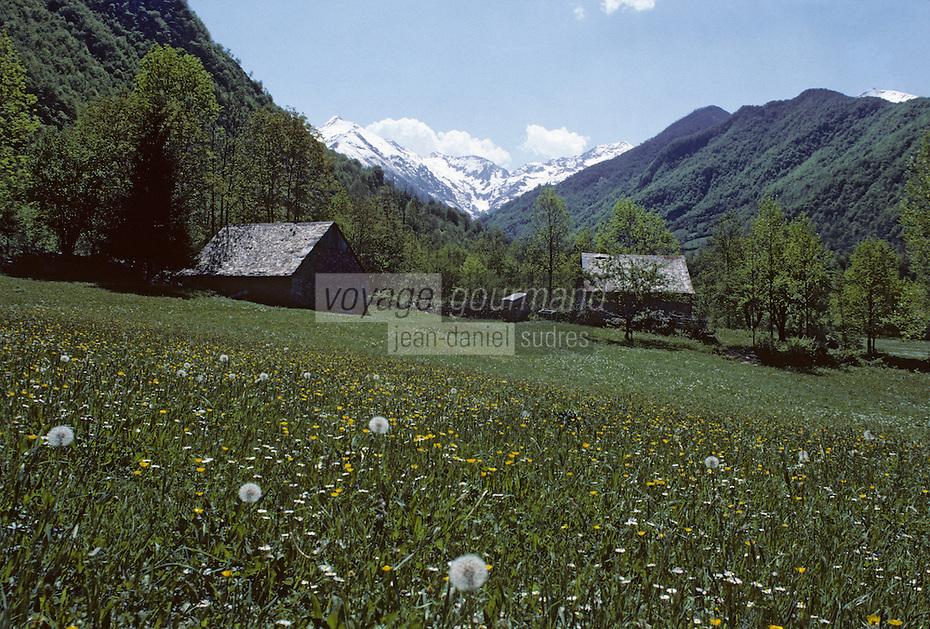 Europe/France/Midi-Pyrénées/09/Ariège/Couserans/Vallée d'Ustou/Cirque de Cagateille: Grange d'estive