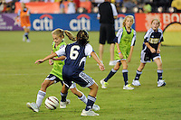 Halftime Game during the Women's Professional Soccer (WPS) All-Star Game at KSU Stadium in Kennesaw, GA, on June 30, 2010.