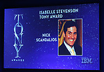 Isabelle Stevenson Tony Award to Nick Scandalios mentioned during the 2018 Tony Awards Nominations Announcement at The New York Public Library for the Performing Arts on May 1, 2018 in New York City.