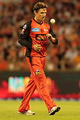 8th January 2018, The WACA, Perth, Australia; Australian Big Bash Cricket, Perth Scorchers versus Melbourne Renegades; Former Scorcher Brad Hogg now with the Melbourne Renegades walks back to his bowling mark during the Scorchers innings