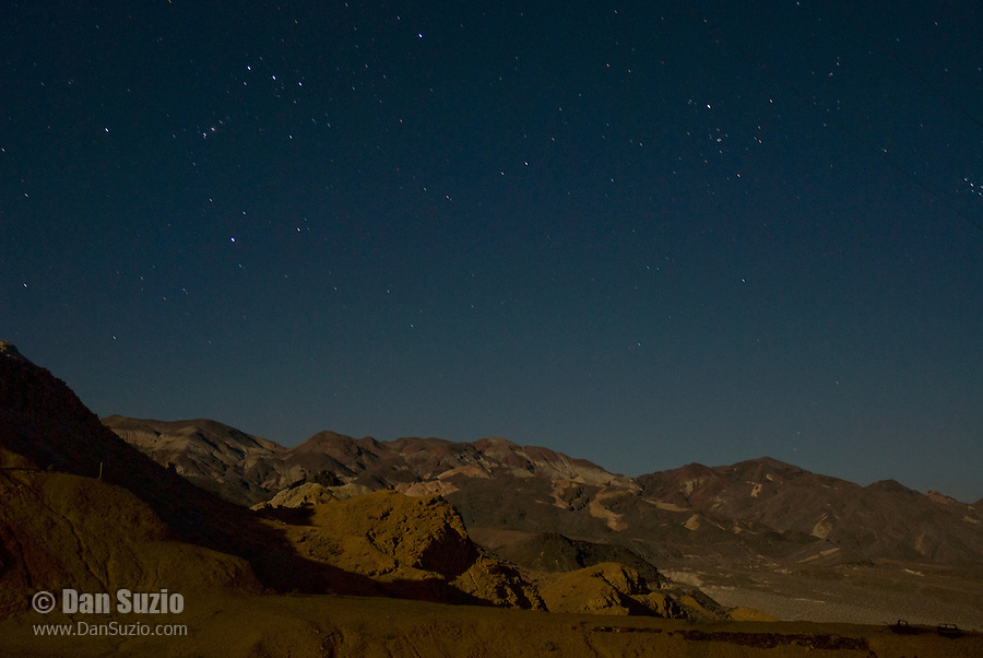 Stars over the Panamint Mountains, Death Valley National Park, California